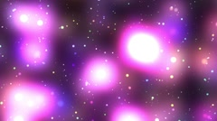 Purple Pink Glowing Colorful Psychedelic Starfield Loop 2 rotate right Stock Footage