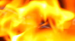 Fire burning with blur Stock Footage