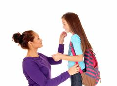 Getting ready for school. Stock Photos