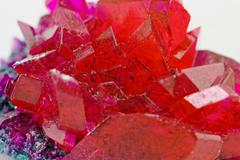 close up of crystals in ruby color - stock photo