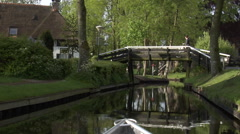 Giethoorn village by boat -  part 1 Stock Footage