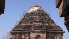World heritage Konark sun temple, India Stock Footage