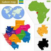 Gabon map - stock illustration