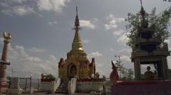 Pagoda on mountain Stock Footage