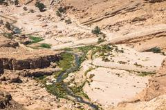 mountain oasis tamerza in tunisia near the border with algeria. - stock photo