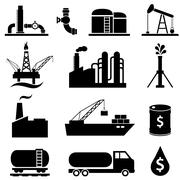 Oil petrol icon set Stock Illustration