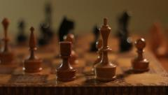 Chess Kingside Castling Stock Footage