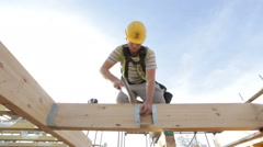 Construction of new homes. Stock Footage
