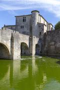 Medieval town of Aigues Mortes Stock Photos