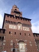 Stock Photo of Castle clocktower daylight