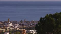 Over view of Estepona Stock Footage