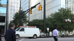 Traffic and marta bus on peachtree street, atlanta, usa Stock Footage