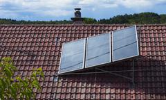 Solar heat collector Stock Photos