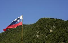 slovenian flag - stock photo