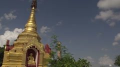 Buddhas in temple  Stock Footage