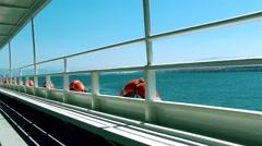 Ferryboat in Turkey Stock Footage