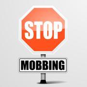 Stop mobbing Stock Illustration