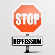 stop depression - stock illustration