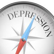 Compass depression Stock Illustration