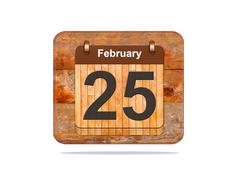 February 25. Stock Illustration