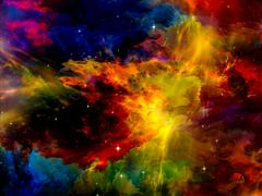 Stock Illustration of Nebula Landscape