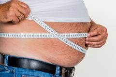 Man with overweight Stock Photos