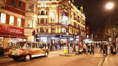 London Charing Cross Road at Leicester Square Hippodrome Casino Stock Footage