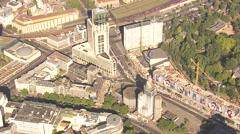 Bahnhof Zoologischer Garten, Aerial shot, 2012 Stock Footage