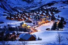 saint-jean d'arves, alps, france - stock photo