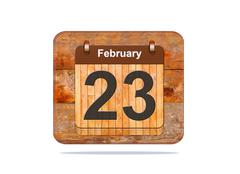 February 23. Stock Illustration