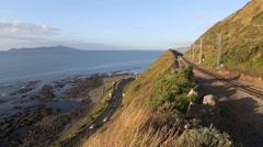 Scenic coastal highway timelapse Stock Footage