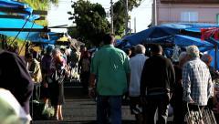 Brazilian People  - Farmer market, Sao Paulo, Brazil. Feira Stock Footage
