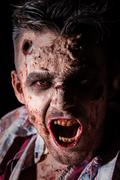 Scary zombie cosplay - stock photo