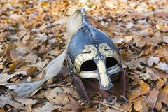 viking helm - stock photo