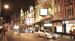 London Theatre district at Westend by night - stock footage