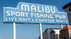 Malibu Famous Sign 1 Stock Photos