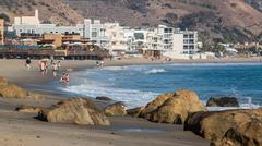 Malibu Coastline Stock Photos
