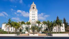 Beverly Hills City Hall Stock Photos