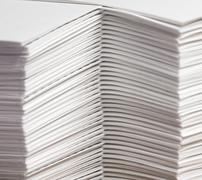 Stacks of Collated Paper Stock Photos