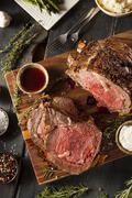 Homemade grass fed prime rib roast Stock Photos