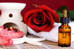 Aromatic spa oil Stock Photos