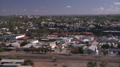 Broken Hill - view from hill Stock Footage