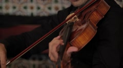 Musician playing the violin  Stock Footage