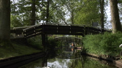 Giethoorn village by boat - part 2 Stock Footage