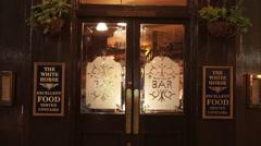 The White Horse British Pub in London Soho - stock footage