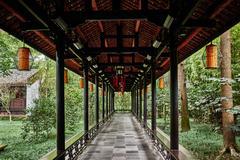 Du fu thatched cottage chengdu sichuan china Stock Photos