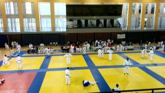 Kids Judo competition Stock Footage