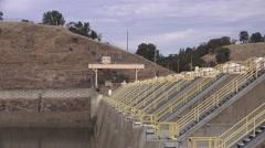 Nimbus Dam, side view Stock Footage