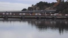 Nimbus Dam, distant bridge, Stock Footage