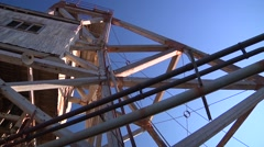 Broken Hill - Junction mine, low angle of mine head Stock Footage